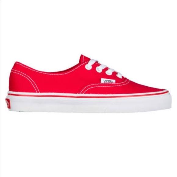 Vans Shoes   Red Boys   Poshmark